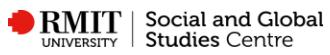 RMIT Social And Global Studies Centre logo